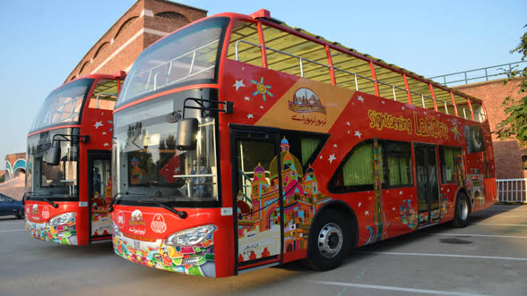 double decker bus in pak
