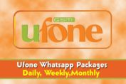 ufone free whatsapp packages