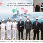 Pakistan Navy Lays the Keel of 1st Milgem Class Corvette in Turkey