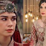 Ertugrul Star Burcu Kiratli Showcases Ali Xeeshan's Bridal Look [Video]