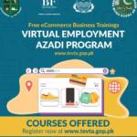 Virtual Employment Azadi Program Offering Free Store Managment on Alibab, Amazon and Daraz Online Courses 2020