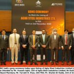 Gong Ceremony on Listing of Agha Steel Industries Limited